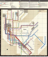 1972 New York City Subway Map Massimo Vignelli Art Print Poster System Map - $12.87+