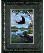 On Eagles Wings by Kim Norlien framed eagle lake landscape print - $39.95