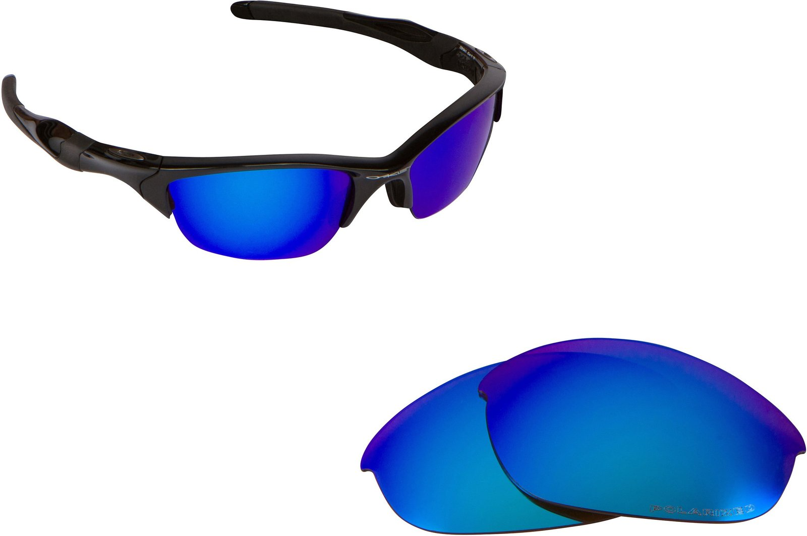 ba94203da32 71uegbsayml. 71uegbsayml. Previous. New SEEK Replacement Lenses Oakley HALF  JACKET 2.0 Asian Fit - Blue Mirror