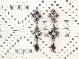 Cookie Lee Victorian Inspired Genuine Austrian Crystal Earrings, #90007,... - $14.00