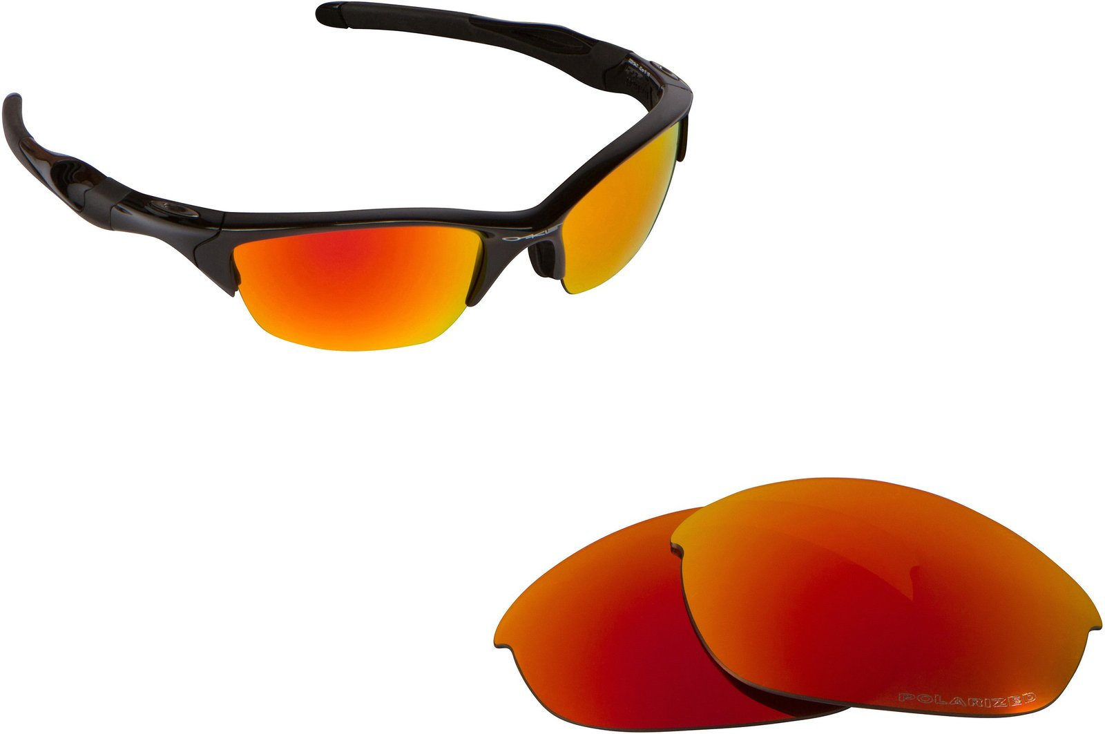 New SEEK Replacement Lenses Oakley HALF JACKET 2.0 - Fire Red Mirror