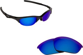 New Seek Replacement Lenses Oakley Half Jacket Asian Fit   Blue Mirror - $14.33