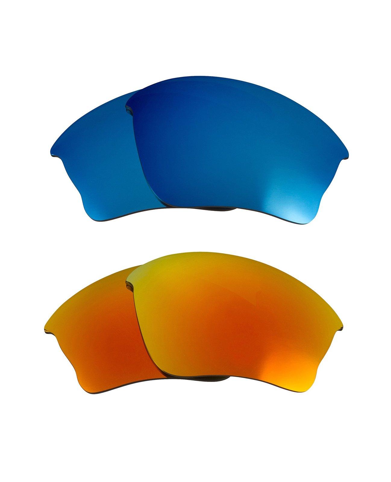 New SEEK Replacement Lenses Oakley HALF JACKET XLJ - Blue Yellow