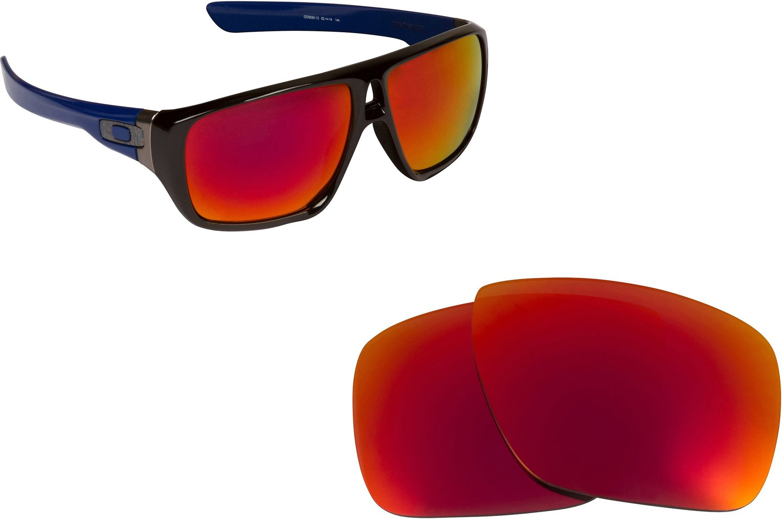 New SEEK Replacement Lenses Oakley DISPATCH 1 - Polarized Red Blue image 6