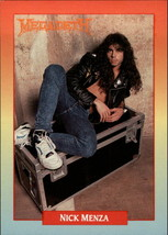 1991 Brockum Rock Cards #14 Nick Menza -MEGADETH- - $1.50
