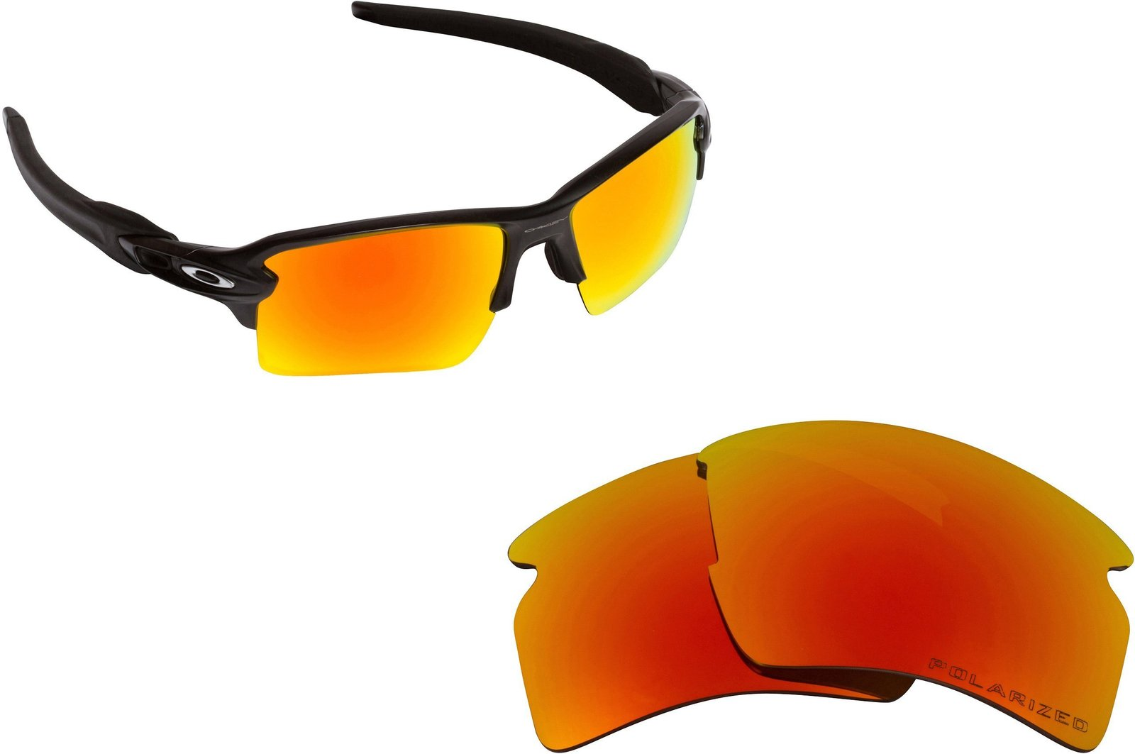 Primary image for New SEEK OPTICS Replacement Lenses Oakley FLAK 2.0 XL - Polarized Red