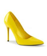 """PLEASER Milan-01 Series 4 1/2"""" Heel Pumps - Yellow Patent - $49.95"""