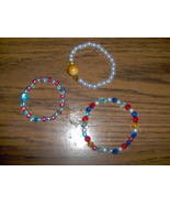Set of 3 Childrens Stretch Beaded Bracelets Han... - $4.99