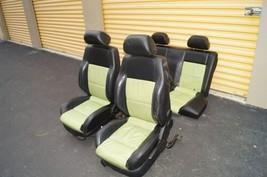 00-04 Volkswagen Vw Beetle Bug Hatchback Turbo GLS Leather Seat Set Green & BLK