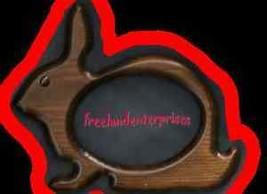 Photo Frame Rabbit Dark Walnut Color Wooden Pine - $190,99 MXN