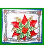 Christmas PIN #0202 Poinsettia Red-Gold 3 Layer Immaculate Concept Virgi... - $49.45