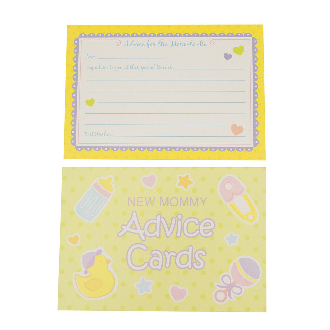 new mommy advice 24 cards baby shower game party activities supplies