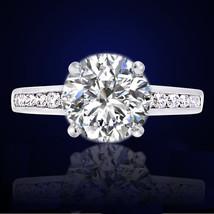1.91CT WOMENS GORGEOUS VS SOLITAIR ROUND DIAMOND ENGAGEMENT RING 18K SOL... - $2,969.01