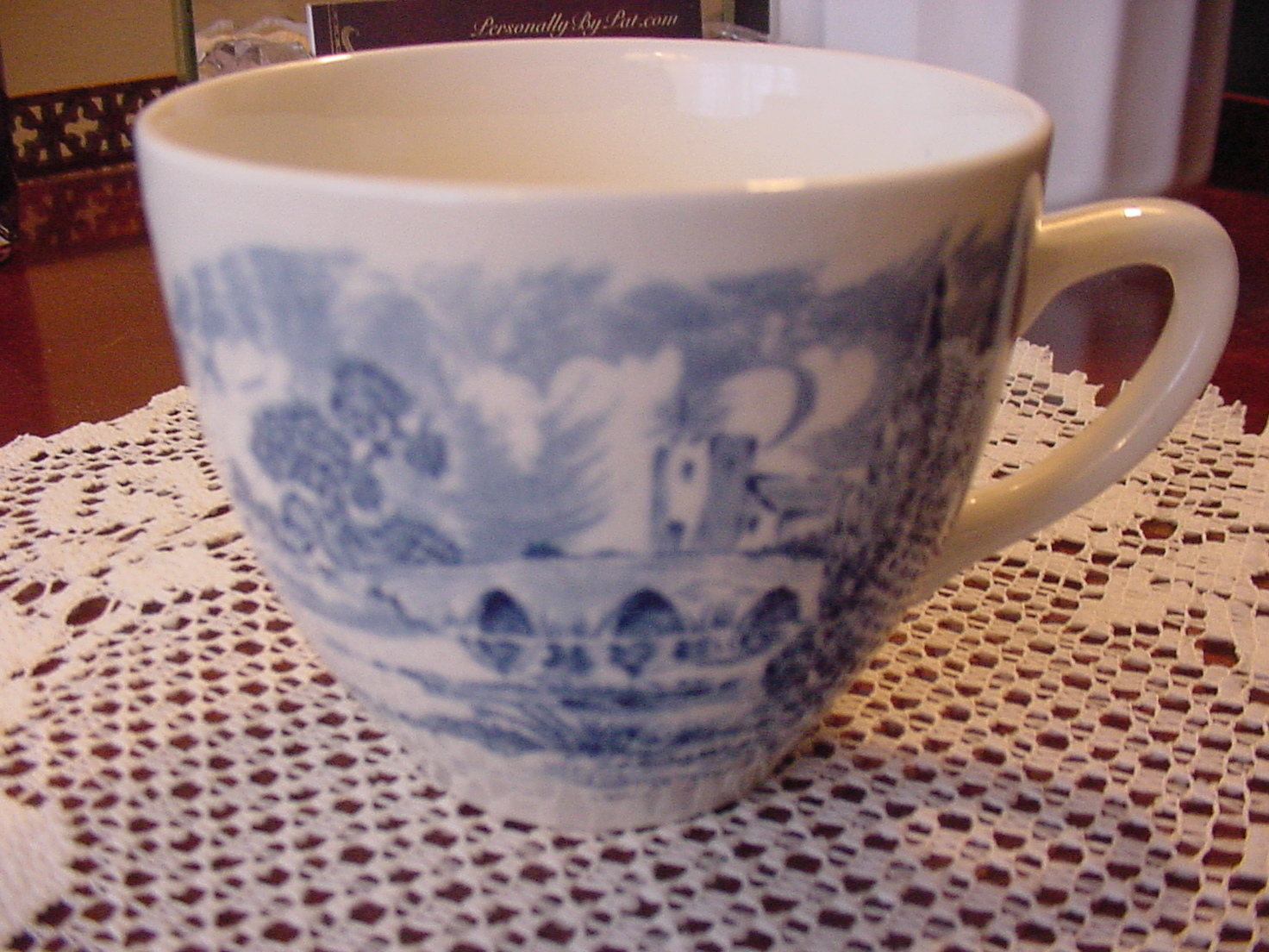 Vintage Wedgwood & Co. Ltd. England Countryside Blue and White Tea or Coffee Cup