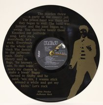 ELVIS PRESLEY LASER ETCHED VINYL LP RECORD WALL CLOCK FREE SHIPPING - $47.45