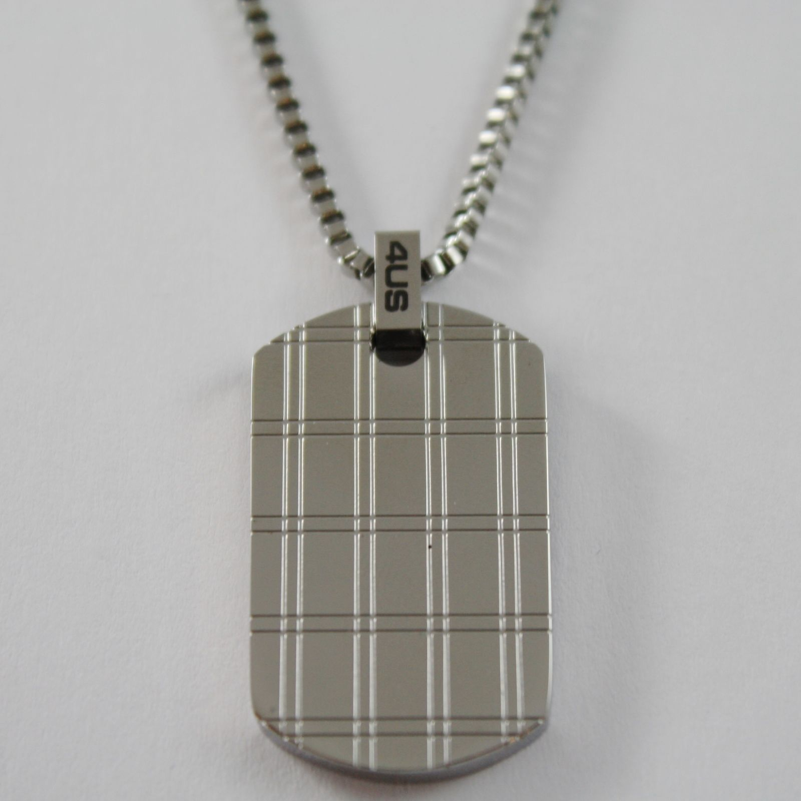 STAINLESS STEEL MILITARY PLATE WITH VENETIAN CHAIN 4US CESARE PACIOTTI NECKLACE