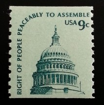 1976 9c Right to Assemble Peaceably, Coil Scott 1616 Mint F/VF NH - $0.99