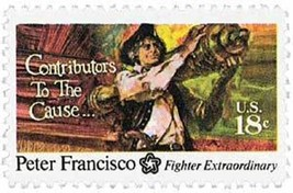 1975 18c Peter Francisco, American Patriot & Soldier Scott 1562 Mint F/V... - $0.99