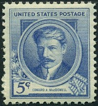 1940 5c Edward A. MacDowell, Composer Scott 882 Mint F/VF NH - $0.99