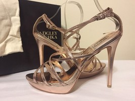 Badgley Mischka Adonis II Rose Women's Evening Platform Heels Sandals Si... - $88.21