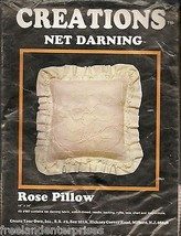 Crafts Net Darning Rose Pillow Kit Creations Kit #987 ~New Old Stock Milford, Nj - $19.75