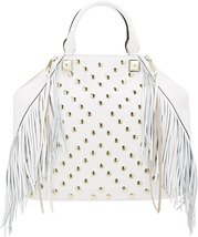 Rebecca Minkoff Rylan Tote Fringe Leather White - $167.10