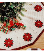 Red Heart Tree Skirt Crochet Pattern Leaflet LW... - $5.45