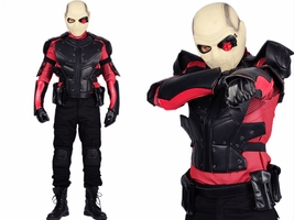 XCOSER Suicide Squad Deadshot Costume Outfit COSplay Hero Battle Uniform... - $260.75 CAD+
