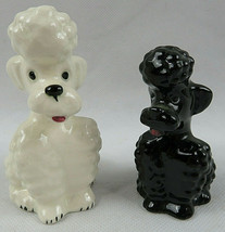 Vintage GOEBEL W.GERMANY Black & White FRENCH POODLE Figurine KT161 - $45.00