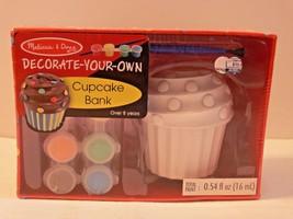 Melissa & Doug Cupcake Bank Decorate Your Own Kids Craft Summer Fun New mc - $14.95