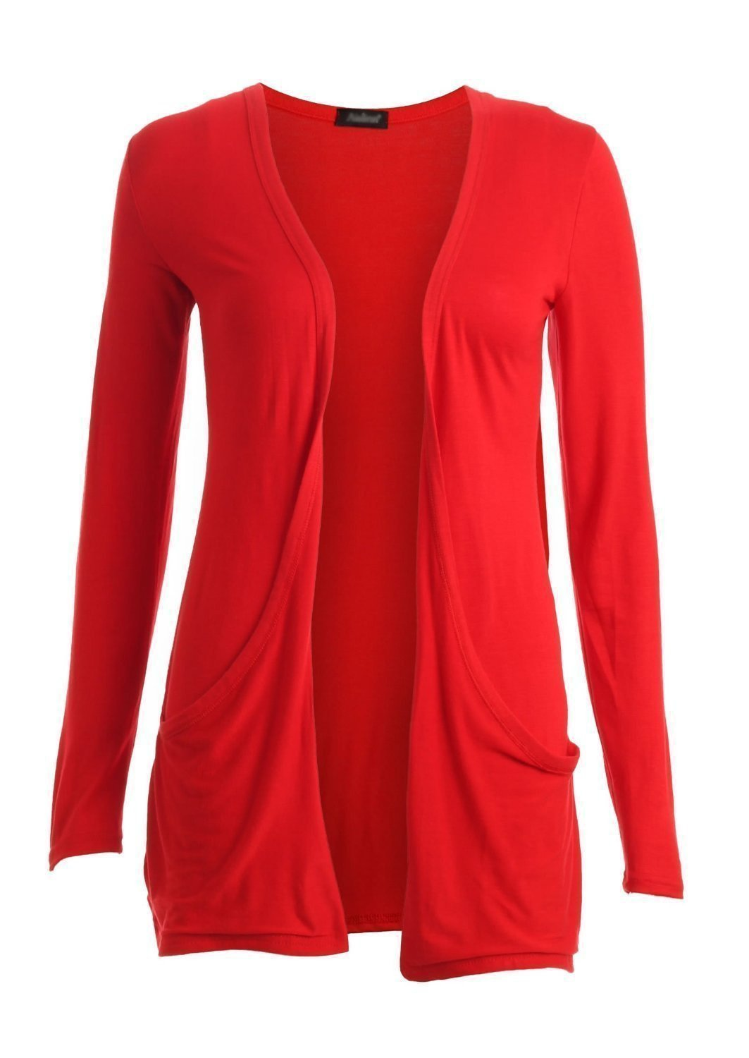 Ladies Red Cardigan With Pockets