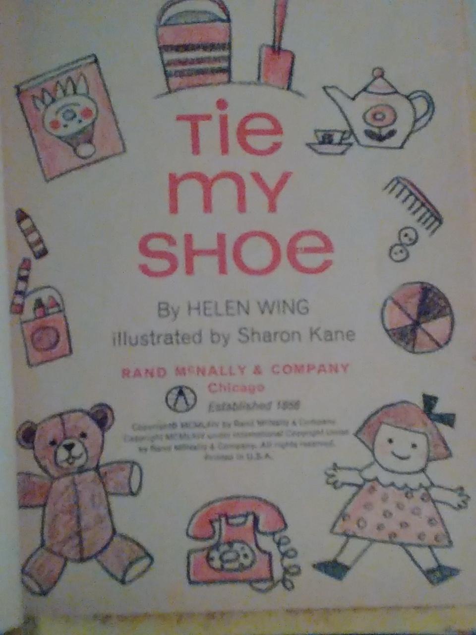 Tie my shoe a Rand McNally Junior elf book
