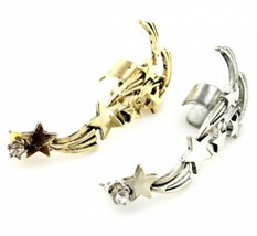 Rock Punk Cluster of Stars Alloy Ear Cuff(Antique Silver) - $5.99
