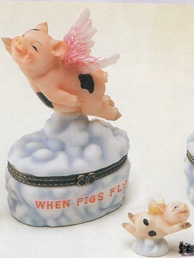 FLYING PIG HINGED BOX