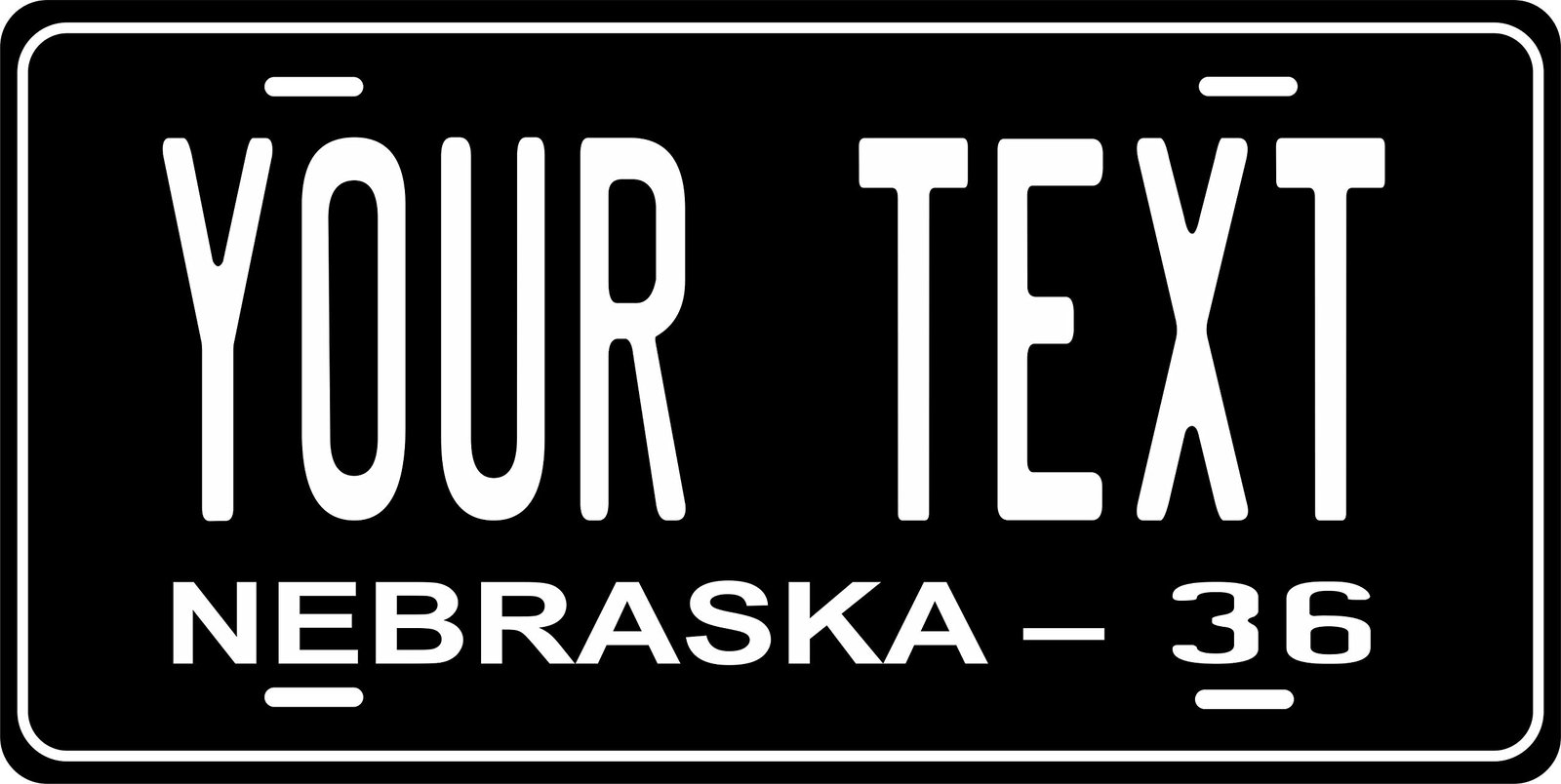 Nebraska 1936 Personalized Tag Vehicle Car Auto License Plate