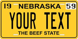 Nebraska 1959 Personalized Tag Vehicle Car Auto License Plate - $16.75