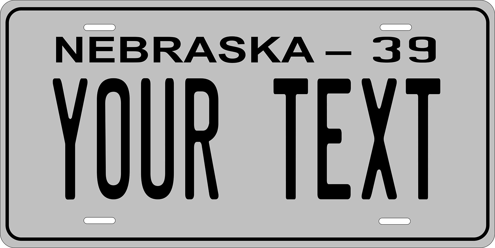 Nebraska 1939 Personalized Tag Vehicle Car Auto License Plate