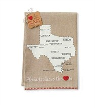 Texas State Linen Guest or Hand Towel - Home is... - $13.95