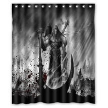 Darksider Undead Warrior Scythe Shower Curtain Waterproof Made From Polyester - $29.07+