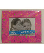 Pink Peace & Stars Trimmed Photo Frame - $6.15