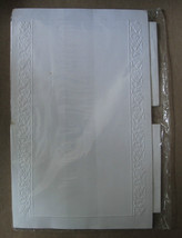 White Embossed Trim Stationery 10 Sheets and Matching Envelopes - $10.05