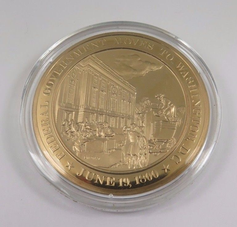 Primary image for June 19, 1800 Federal Government Moves To Washington D.C. Franklin Mint  Coin