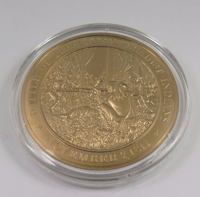 Primary image for November 7, 1811 Battle Of Tippecanoe Against Indians Franklin Mint Bronze Coin