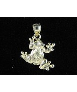 14k Yellow Gold Frog Charm Pendant - $74.79