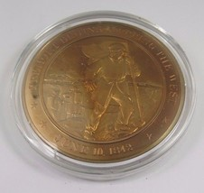 June 10, 1842 Fremont Begins Mapping The West Franklin Mint Solid  Bronze Coin - $12.16
