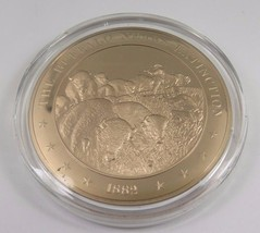 1882 The Buffalo Nears Extinction Franklin Mint Solid Bronze Coin Americ... - $12.16