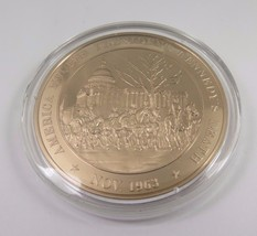 Nov. 1963 America Mourns President Kennedy's Death Franklin Mint Bronze Coin - $12.16