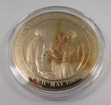 Feb.-May 1868 Impeachment Of President Johnson Franklin Mint Solid Bronz... - $12.16