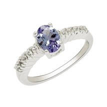 Natural Royal Blue Tanzanite 925 Sterling Silver Jewelry Ring US Size 7 ... - $35.49