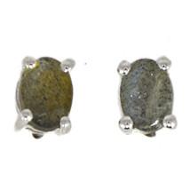 Labradorite Jewelry Solid 925 Sterling Silver Beautiful Earring Stud SHE... - $10.39